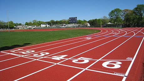photo of a synthetic track