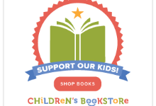children's bookstore icon with open book