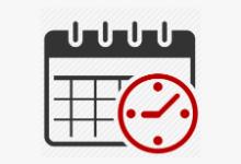 clip art of a calendar and clock