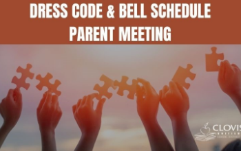dress code and bell schedule meeting. Hands holding puzzle pieces towards the sunlight.