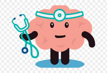 brain dressed as a doctor