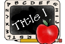 title 1 with chalkboard and apple