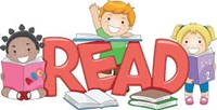 Clip art of students with books